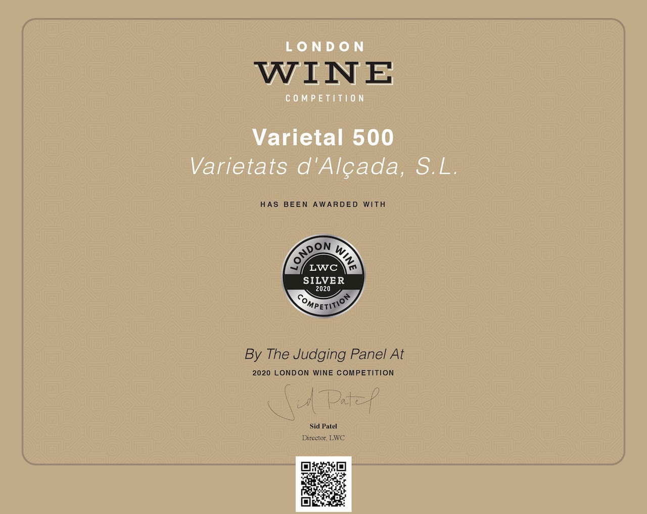 London Wine Competition Award